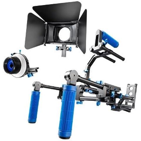 eimo Rig Video Pro Set spalla professionale mount rig con matte box e seguire punto di riferimento per tutte le fotocamere reflex e video Videocamere