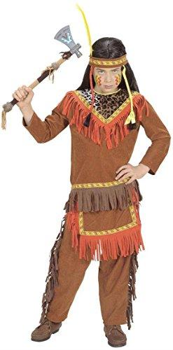 Kinderkostüm 58746 - Indianer Deluxe für Jungs Größe 128