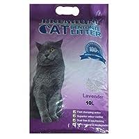 بريميم رمل لفضلات القطط 10 لتر طبيعي وقابل للتحلل, رائحة اللافندر