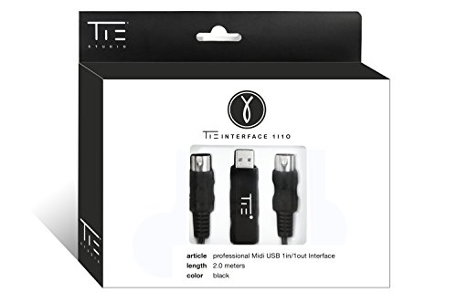 TIE Studio professionelles latenzfreies Midi auf USB Interface inkl. Oktokoppler 2.0 m