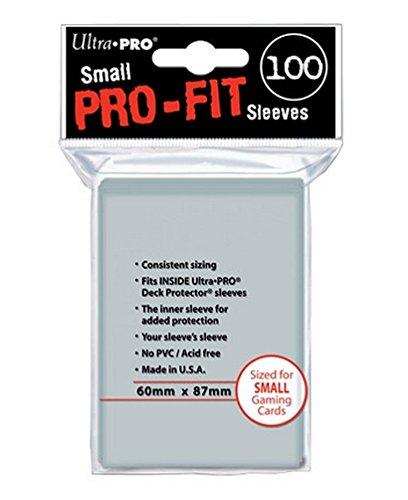Ultra Pro 82712 - Standard Kartenhüllen, Pro-Fit Card, 100 Hüllen, klar