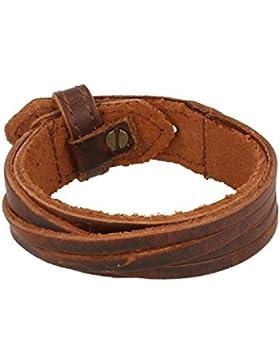 Baxter Jewelry London Leder Armband Dunkelbraun Schmuck drei Lochungen Gesamtlänge 24,5 cm
