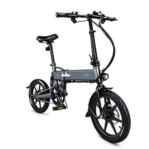 """mymotto 16"""" Vélo Électrique Pliant Unisex Pliable Alliage d'aluminium Bicyclette Ultra-Léger FIIDO System Bicyclet, Batterie Lithium ION 36V 7.8 Ah (Gris)"""