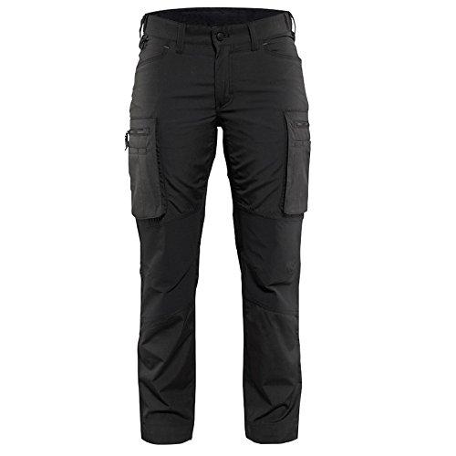 Knie-pocket Canvas Hose (Blakläder 715918459900C44Größe C44Frauen Service Hose–Schwarz)