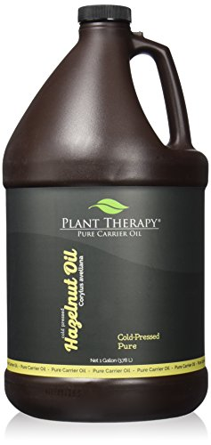 Plant Therapy Hazelnut Carrier Oil 1 gal Base Oil for Aromatherapy, Essential Oil or Massage use