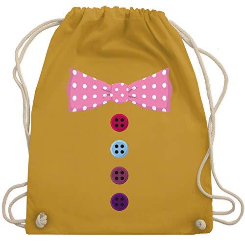 Karneval & Fasching - Clown Kostüm rosa Fliege - Unisize - Senfgelb - WM110 - Turnbeutel & Gym ()
