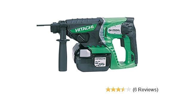 42eb035ee1d Hitachi DH25DAL JQ 25.2V SDS-Plus Hammer Drill with 2Ah Batteries   Amazon.co.uk  DIY   Tools