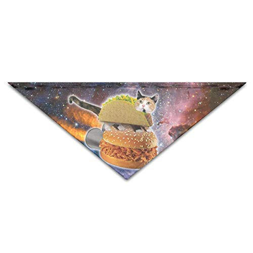 Galaxy Pizza Cat Turban Triangle Scarf Bib Scarf Accessories Pet Cat and Baby Puppy Saliva Dog Towel