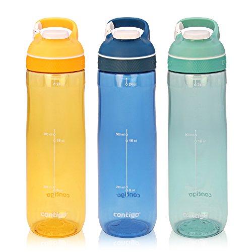 Contigo AUTOSEAL Cortland Bottle 32oz 3-Pack: Marigold, Monaco & Greyed Jade (Jade Contigo)