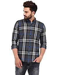 Sting Dark Grey Checks Full Sleeve Casual Shirt
