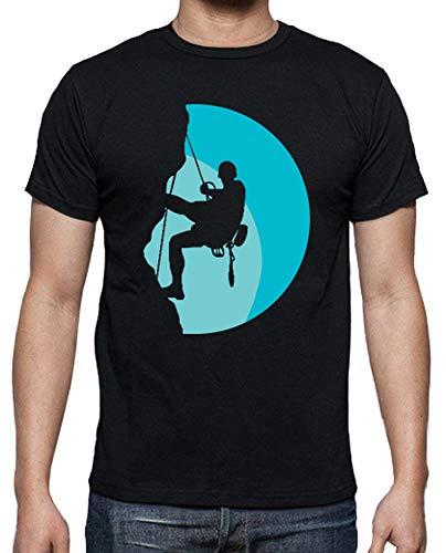 Latostadora - Camiseta Escalada Hombre Negro M