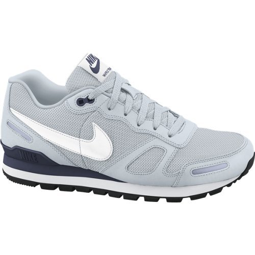 Nike Air Waffle Trainer, Chaussures de Sport Homme Argent - Silber (095 PURE PLATINUM / WHITE-OBSIDIAN)