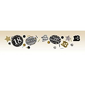 Confeti para celebración de 18 cumpleaños, Amscan 9900555, 34g, color dorado