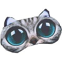 Lergo Schlafmaske mit 3D-Cartoon-Motiv, bedruckt, verstellbar, lustige Katzen-/Hunde-Augenbinde, Baumwolle preisvergleich bei billige-tabletten.eu