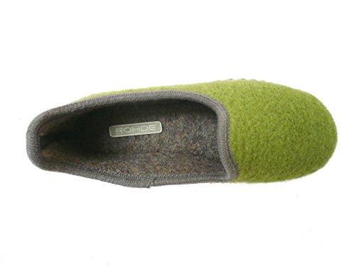 Rohde Kista, Chaussons à doublure chaude femme Vert - Vert olive (61)