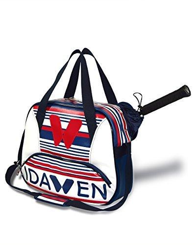 Idawen Tennistasche | Designer Sporttasche für damen| blau & weiß | beschränkte Auflage | mehr Innere Sachen für die organisierte Lagerung | hohe kapazität, licht | veganes Produkt, PETA-zertifiziert - Hohe Kapazität Licht