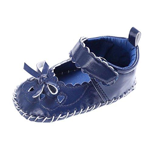 Scarpe per bambini Koly_Bambino infante della neonata Leather pattini appena nati Dark Blue