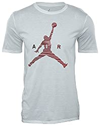 Nike Air Jumpman Tee – T-shirt Of The Line Michael Jordan For Men, Men, Air Jumpman Tee, White (White Gym Red), S