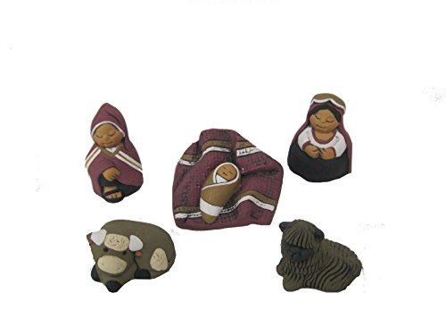 Discount ethnique – Crèche terre cuite Cuzo Set H.6 cm.