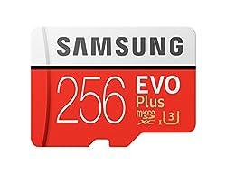 Samsung Micro Sdxc 256gb Class 10 Evo Plus U3 Speicherkarte (Inkl. Sd Adapter, Bis Zu 100mbs)