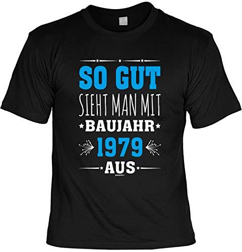 tolles T-Shirt zum 40. Geburtstag - Leiberl Geschenk zum 40 Geburtstag 40 Jahre Geburtstagsgeschenk 40-jähriger Papa So gut Sieht Man mit Baujahr 1979 aus Gr: 5XL