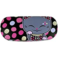 Etui à lunettes rigide chat porte bonheur Mani the Lucky Cat noir à pois  colorés 367cc68ea293