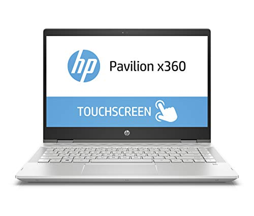 HP Pavilion x360 14-cd0200ng 35,56 cm (14 Zoll Full HD Touchdisplay) Notebook (Intel Core i3-8130U, 8 GB RAM, 128 GB SSD, 1 TB HDD, Intel UHD Graphics 620, Windows 10 Home 64) silber
