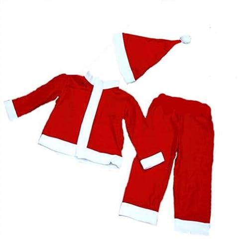 Costume de Père Noël pour enfant Motif Raiponce Taille 4–6 ans