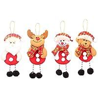 Toyvian Decoraciones Colgantes de Navidad Papá Noel Adorable Muñeca Colgantes Adornos para árboles de Navidad Fiesta en casa Decoraciones de Oficina - 4pcs
