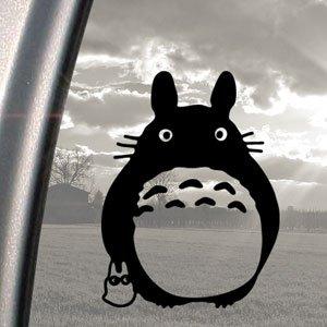 Sticker-fentre-Motif-Totoro-Noir