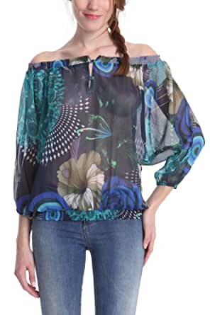 Desigual Damen Bluse Reo Blau, XL