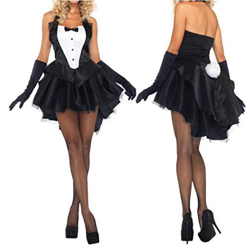 Kostüm Girl Bunny - Karneval Kostüme für Frauen Erwachsene Clubwear Cosplay Bunny Girl Rabbit Kostüme Cosplay Sexy Halloween Kostüme für M-XL,Black,XL