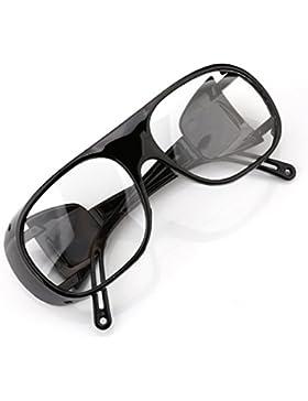 UV gafas de soldadura gafas de protección gafas de sol ligero resistente al viento, hombre, white transparent
