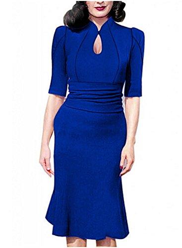 Sparkling YXB - Robe - Portefeuille - Manches Courtes - Femme Bleu - Bleu marine