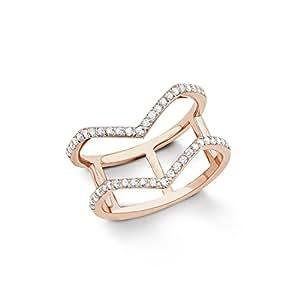 s. Oliver Damen-Ring 925 Silber teilvergoldet Zirkonia weiß Rundschliff Gr. 52 (16.6) - 541114