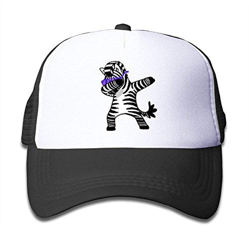 Dabbing Zebra Trucker Hat Adjustable Mesh Cap for Baby - Zebra Bottle Cap