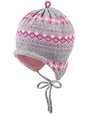 maximo Baby-Mädchen Mütze Ausgenäht mit Muster Bindeband