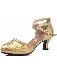 CHIC NANA Scarpa donna moda sandali Mules compensate vernice, Oro (oro), 38