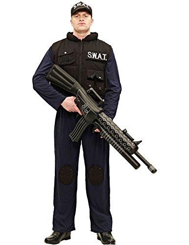 Erwachsene SWAT Kostüm Karneval Fasching Herren Verkleidung Mottoparty Standard
