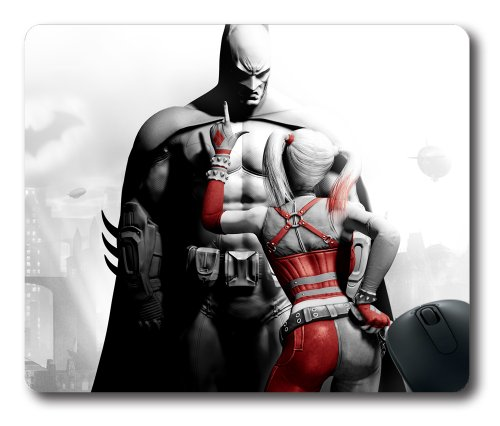 Batman and Harley Quinn Rectangle Mouse Pad, DIY Cecilydreaming