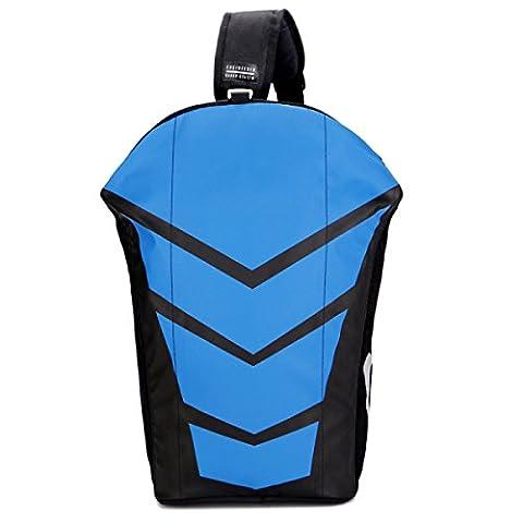 Modische Rucksack Männer Und Frauen Universal Freizeit Doppel Umhängetasche,Blue