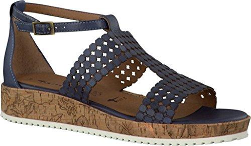 Tamaris Damen sandalo 1-28203-802 denim blau