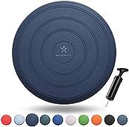 Bodymate balzitkussen comfort incl. pomp 33 cm diameter - balanskussen, zitbalkussen, luchtkussens, balanspad - core, fitnes