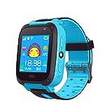 YOUNICER Praktisch Kinder Smartwatch Anruf GPS Tracker Wasserdicht Kinder Armbanduhr Telefon Anti-verlorene SOS Armband Eltern steuern Smartphone Uhr Große Geschenke für Schatz