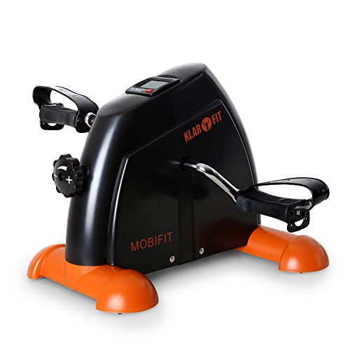Klarfit Minibike 2G • Mini Ergometer • Minibike • Armtrainer • Beintrainer • Minifahrrad • Heimtrainer • 2kg Schwungmassensystem • Trainingscomputer • belastbar bis 100kg • schwarz-orange