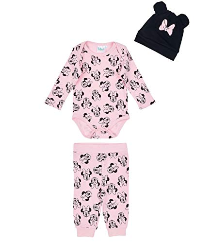 Disney minnie body neonato con leggins e berrettino babies girls fucsia 12m