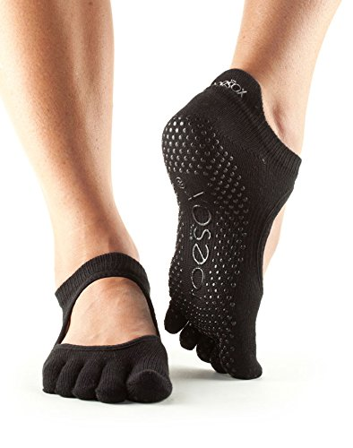 Toesox Grip Full Toe Bellarina Socks, Dance Socks and can be use for Barre, Yoga, Pilates, Fitness Non Slip Skid Socks - 1 PAIR