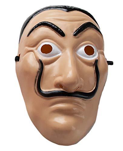 Haus des Geldes Maske Latex La Casa De Papel Maske Salvador Dali Karneval Kostüm Faschingskostüm