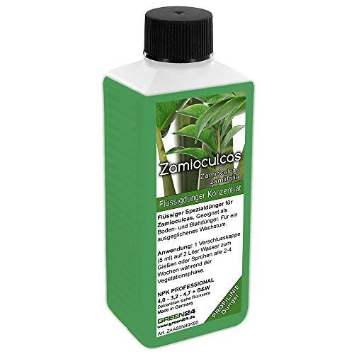 GREEN24 Zamioculcas zamiifolia Dünger, NPK Flüssigdünger für Glücksfeder Kartonpapier-Palme Zamie (Zamia Farn, Zamio Palme) Zanzibar Pflanzen/Zimmerpflanzen