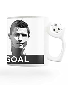 PosterGuy Cristiano Ronaldo Goal Real Madrid Rotating Football Coffee Mug